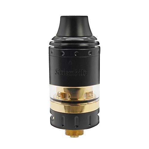 Kriemhild Verdampfer/Atomizer Set von Vapefly, 5ml, Durchmesser 26cm, subohm-fähig, Top-Filling - Farbe: schwarz-gold