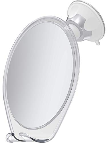HoneyBull Shower Mirror for Shaving Fogless with Suction, Razor Holder & Swivel -