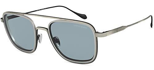 Giorgio Armani 0AR6086 Gafas de sol, Brushed Grey/Matte Silver, 53 para Hombre