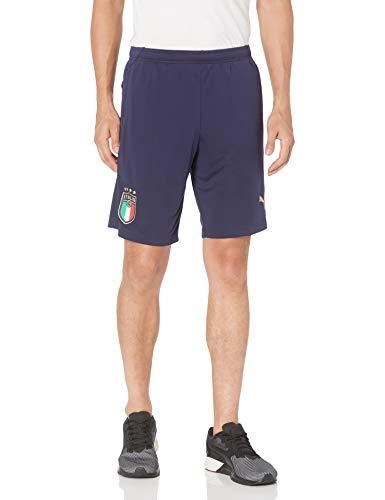 PUMA Men's FIGC Training Shorts W.Z/P, Peacoat Team Gold, L