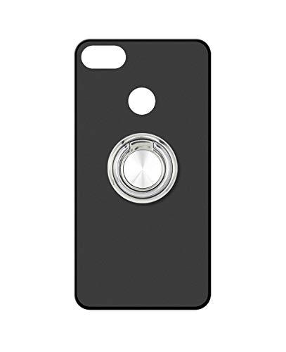 Sunrive Kompatibel mit Nubia Z11 Mini Hülle Silikon, 360°drehbarer Ständer Ring Fingerhalter Fingerhalterung Handyhülle matt Schutzhülle Etui Hülle (A2 Silberig) MEHRWEG