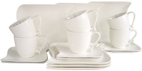Creatable Kaffeeservice 18 teilig, Porzellan, Weiß
