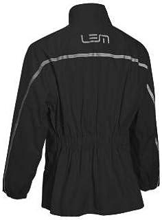 LEM - Traje de lluvia IMPERMEABLE 2 piezas Negro/Flúor Costuras Termoselladas (XXL)