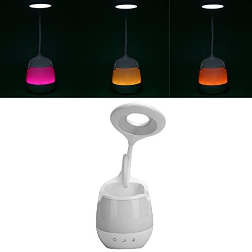 KAKAKE Altavoz de lámpara de Mesa, ABS 1200mAh Batería de Gran Capacidad Sin luz estroboscópica Lámpara de Mesa Blanca Menos Sombras para Altavoz de lámpara de Escritorio