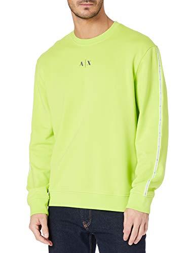 ARMANI EXCHANGE Acid Lime Sweatshirt Maglia di Tuta, Uomo