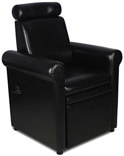 """Icarus""""Crest"""" Black Pedicure Foot Spa Station Chair"""