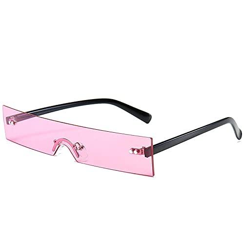 Elegante Rectángulo Gafas De Sol FeMale Moda Rosa Luz Rojo Lente Pequeña Gafas Gafas Gafas UV400