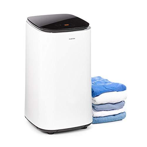 Klarstein Zap Dry Wäschetrockner, 820 W, Kapazität: 50 L, UniqueDry Design, geringer Platzbedarf, Edelstahl-Trommel, Kunststoffgehäuse, Touch-Bedienfeld, Deckel aus Sicherheitsglas, weiß