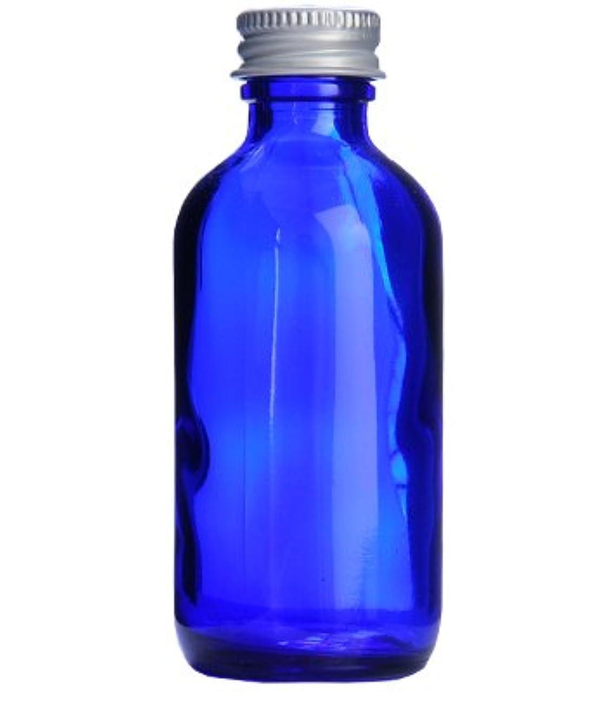 トラフ木平らなコバルトガラスボトル?アルミキャップ[60ml]/1個