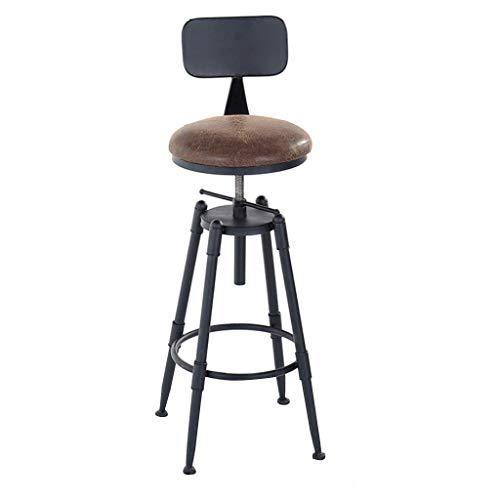 WYJW Barkruk Barkruk Kinderstoel en stoel In hoogte verstelbaar op zijn beurt Keuken Ontbijt Greenhouse Bar 40x40x (65-75) Cm Keuken Pub Cafcute;