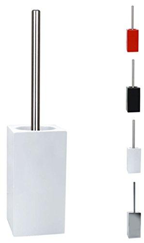 Spirella WC Bürste Toilettenbürste Klobürste Quadro Steingut 11,5 x 45 cm - Weiß
