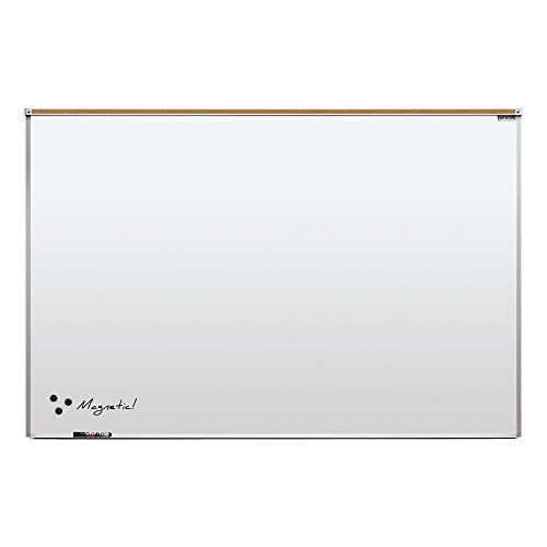 Norwood Commercial Furniture Heavy-Duty Porcelain Steel Magnetic Dry Erase Board/Whiteboard w/Aluminum Frame & Maprail 4' x 6'