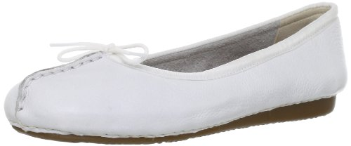 Clarks Clarks Damen Mokassin Ballerinas, Weiß (White Leather), 37.5 EU