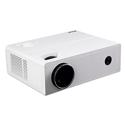 LMXDCS Proyector 1080P Full HD admitido, proyector portátil Compatible con TV Stick HDMI VGA USB TF AV, proyector de Video para Cine en casa y películas al Aire Libre,Blanco