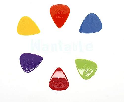 Pack Of 12 X Nylon Agarre Púas Guitarra  Alice AP600G   para Guitarra Acústica Eléctrica bajo Guitarras   Medio Pesado Calibre 0.96mm