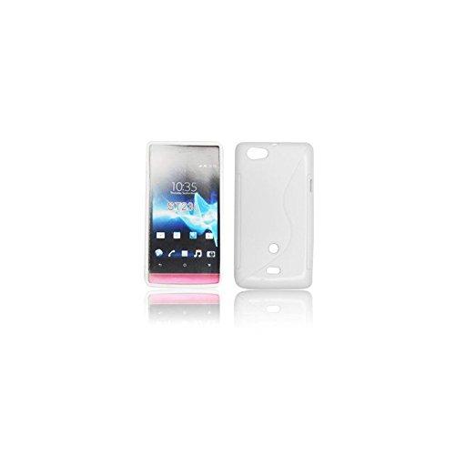 Foxchip arrière Coque-Cover Rigida S Line-Custodia per Sony Ericsson Xperia Miro ST23i, 3610008964 Colore: Bianco