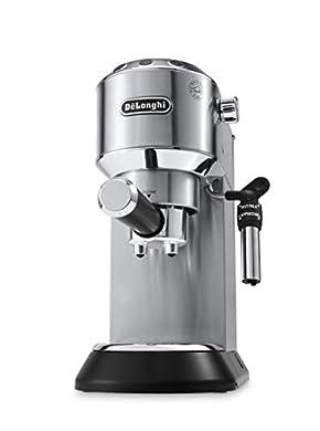 Foto di De'Longhi Dedica EC685.M Macchina da Caffè Espresso Manuale e Cappuccino, Caffè in Polvere o in Cialde E.S.E., 1350 W, Argento