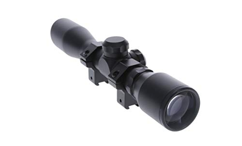 TRUGLO 4x32mm Compact Rimfire and Air RIfle Scope Series, Duplex Reticle, Black