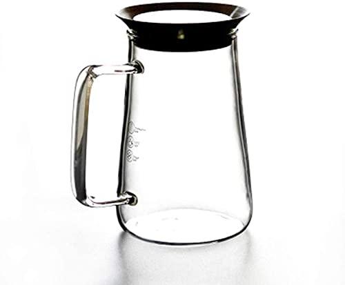 DGHJK Tea Pots Juice Jug Housmile Blender Mixer Food Processor Kettle High Temperature Resistance Thick Heat-Resistant Glass Filter Pot 650ml Heat Resistant/345