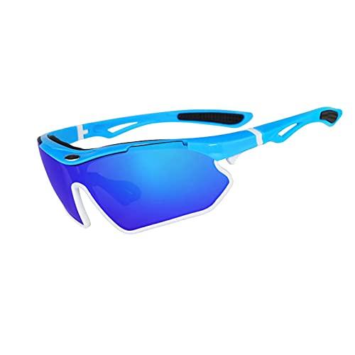 HGJINFANF Gafas de Sol Deportivas for Adultos, Gafas de Sol de Golf de la Lente de Moda Liviana, Gafas de Bicicletas de montaña de la Bicicleta