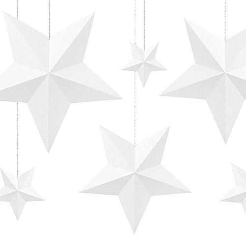 Decoration Stars white (1 pkt / 6 pc.)