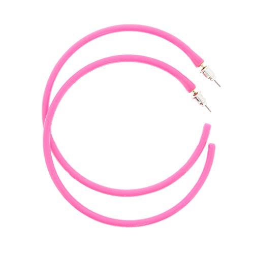 Zac's Alter Ego® Plastic Hoop Neon Earrings for Fancy Dress - 80s/ Pop/Clubbers