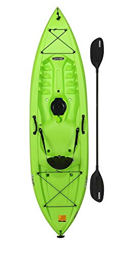 Lifetime Tahoma 100 Sit-On-Top Fishing Holiday Vacation River Lake Kayak, Paddle Included