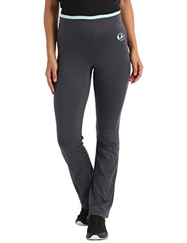 Ultrasport Damen Fitnesshose Long Jogginghose, grau (Grey/Mint), S