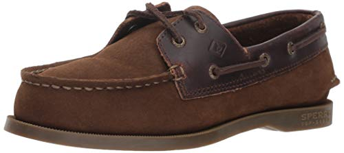 Sperry Boys' Authentic Original Boat Shoe, Brown Buck, 2 M US Little Kid