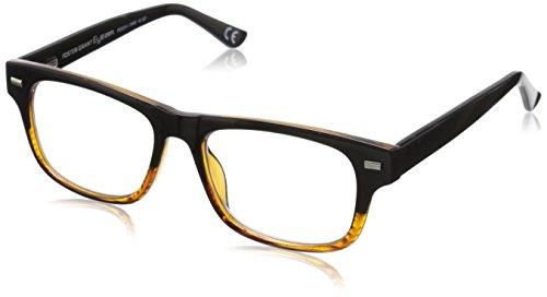Foster Grant Eyezen Digital Glasses Cat-Eye Reading, Black and Brown Stripe/Transparent, 54 mm + 1