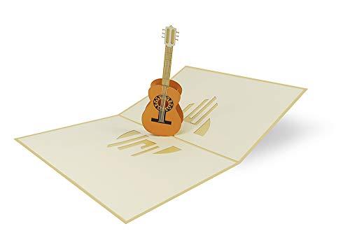 Pop Up Karte 3D Gitarre Geburtstagskarte Gutschein Konzert Theater Einladung Musik - Gitarre 077
