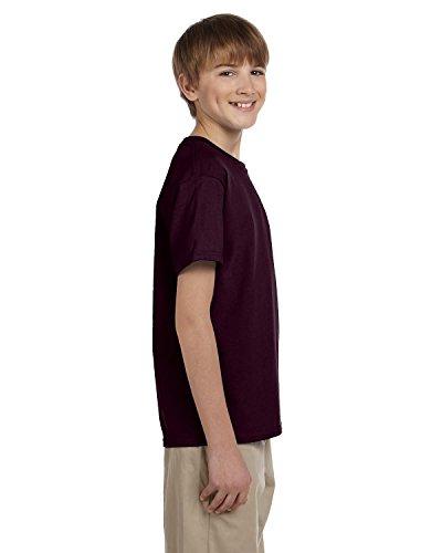 Gildan boys Ultra Cotton T-Shirt(G200B)-DARK CHOCOLATE-S
