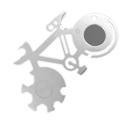 Fornateu Fahrrad-Shaped-Reparatur-Werkzeuge Mehrzweck Mountain Bike Repair Schlüssel Maßstab Dosenöffner Schraubendreher Schneidewerkzeug-Karte