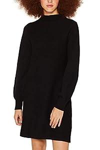 edc by ESPRIT Damen 099CC1E031 Kleid, Schwarz (Black 001), X-Small (Herstellergröße: XS)