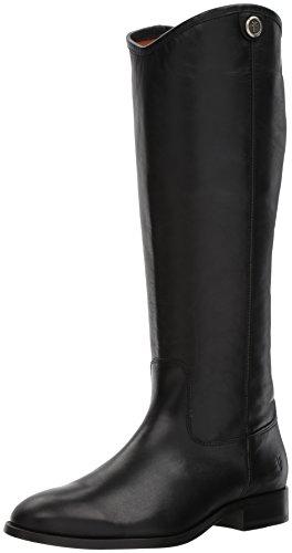 Frye Women's Melissa Button 2 Riding Boot, Black, 8.5