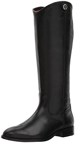 Frye Women's Melissa Button 2 Riding Boot, Black, 10