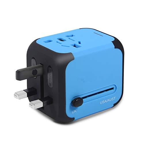 CARWORD Dual-USB-Adapter Mit 2,4A Universal-Reiseladegerät, All In One Weltweite Steckdosen Für Wechselstrom-Adapter Für Europa UK USA