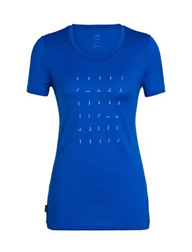 Icebreaker Damen WMNS Tech Lite SS Low Crewe Tree Life T-Shirt, Marine, M