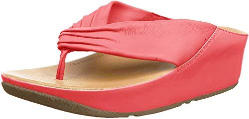 FitFlop Twiss Damen-Sandalen mit offener Spitze, Rot - Rot (passion red) - Größe: 40 EU
