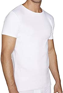 YSABEL MORA Camiseta Algodón Manga Corta para Hombre (L, Blanco)