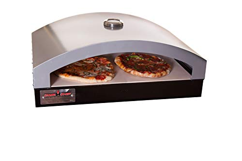 Camp Chef Artisan Outdoor Pizza Oven, 16' Two Burner Accessory, Ceramic Pizza Stone, 16 in. x 24 in....