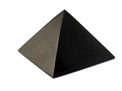 MyHomeLux® Schungit Pyramide 5cm, MIT QUALITÄTSGARANTIE! Wasserenergetisierung Cheops Pyramide Neutralisator Naturstein aus der Zagozhskaja Mine