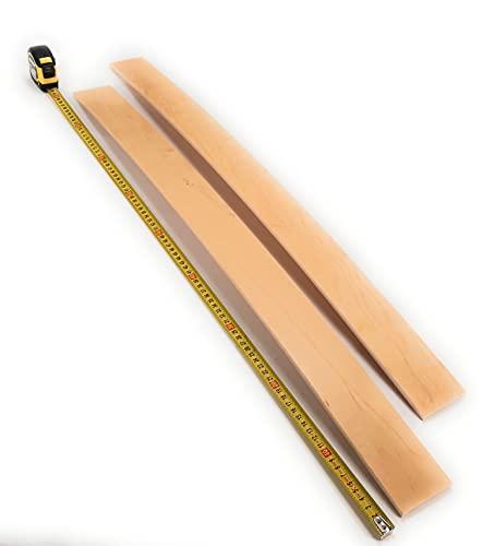 2 Listelli di ricambio In Faggio su misura RINFORZATE (6,7 x 'misura a propria scelta' x 0,8)(SPECIFICARE LA MISURA AL MOMENTO DELL'ORDINE TRAMITE MAIL info@viglietti.it LUNGHEZZA MAX 89 cm)