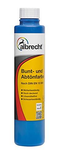 4 x 250 ml Albrecht Bunt- und Abtönfarbe Lösemittelfrei Stumpfmatt 1 L Farbwahl, Farbe:Apfelgrün 128