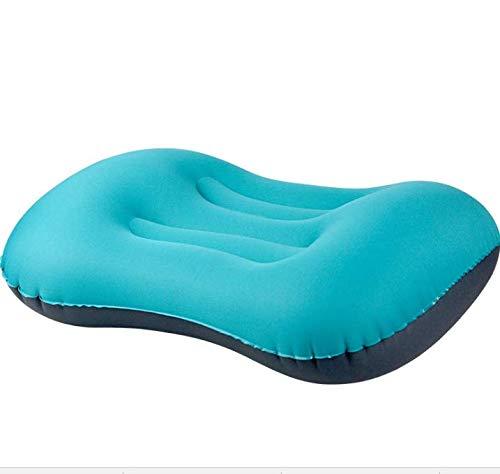 SAYGOGO Almohada Inflable para Viajes, Almohada Inflable para Cuello y Apoyo Lumbar Mientras duermes, fácil de Llevar