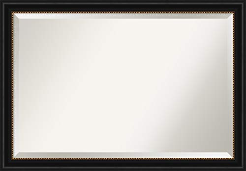 Amanti Art Framed Vanity Mirror   Bathroom Mirrors for Wall   Manhattan -