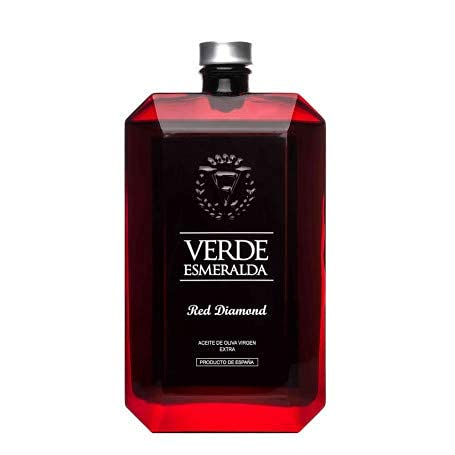 Caja 6 Botellas de 500ml Verde Esmeralda Red Diamond | Aceite de Oliva Virgen Extra| Aceite Variedad Royal | Productos Gourmet | Ideal para regalo