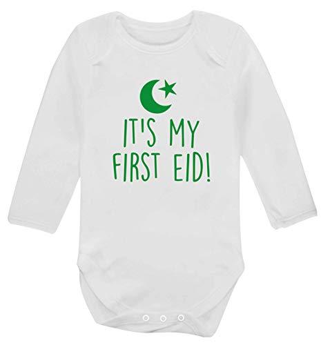 Flox Creative Gilet à manches longues pour bébé First Eid - Blanc - S