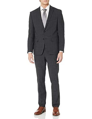 Calvin Klein Herren X Fit Stretch Slim Suit Businessanzughosen-Set, Dunkelblau kariert, 50