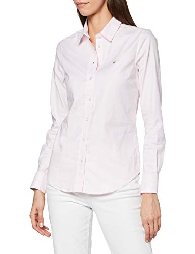GANT Damen Stretch Oxford Banker Shirt Bluse, Rosa (Light Pink 662), (Herstellergröße: 36)